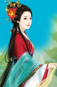 chinese art ~~ For more: - ✯… Ancient Beauty, Ancient Art, Japanese Geisha, Japanese Art, Fu Dog, Art Asiatique, Painting Of Girl, China Art, Chinese Culture