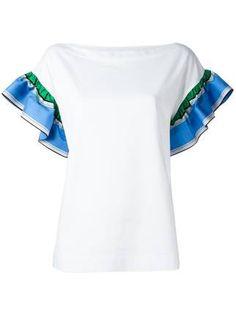 Emilio Pucci ruffled shortsleeves blouse