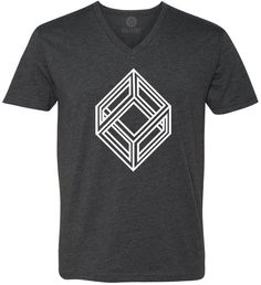 Impossible Cube (White) Short-Sleeve V-Neck T-Shirt