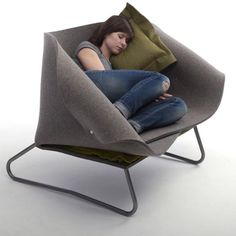 felt up chair by charlotte kingsnorth