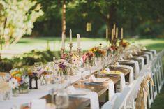 mariage somptueux mais à la décoration  assez simple dans un parc