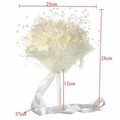 Bridal Wedding Bouquet Brooch Imitation Pearls Posy White Simulation Flowers is personalized, see other cheap bridal bouquets on NewChic. Broschen Bouquets, Wedding Bouquets, Wedding Favors, Wedding Events, Wedding Decorations, Flower Brooch, Wedding Accessories, Headpiece, Pearls
