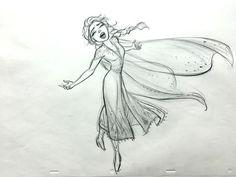 Elsa in action on new Frozen 2 concept art pencil drawings Frozen Disney, Frozen Art, Elsa Frozen, Disney Concept Art, Disney Fan Art, Disney Style, Disney Love, Frozen Drawings, Disney Drawings Sketches