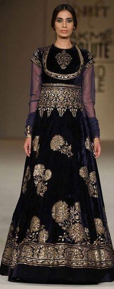 Pinterest:@Littlehub ||คdamant love on Anarkali's ✿。。ღ || Rohit bal Anarkali lakme fashion week 2016