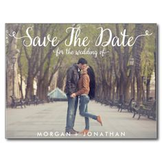 Shop Horizontal Save The Date Postcard Template created by Personalize it with photos & text or purchase as is! Save The Date Pictures, Modern Save The Dates, Wedding Save The Dates, Save The Date Ideas, Couple Pictures, Save The Date Invitations, Save The Date Postcards, Save The Date Cards, Wedding Invitations