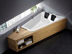 Double Bathtub, Bath Tub For Two, Wood Bathroom, Bathroom Interior, Small Bathroom, Bathroom Ideas, Bathroom Remodeling, Remodeling Ideas, Bathroom Designs