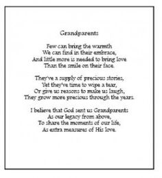 grandparents poems for kids - Google Search