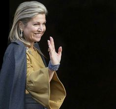 King Willem-Alexander and Queen Maxima attended the New Years reception at the Royal Palace