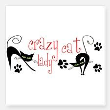 crazy cat lady Sticker for