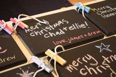 Handmade chalk boards for kids to give kids as gifts