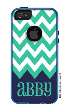 OTTERBOX Commuter iPhone 5 5S 5C 4/4S Case Chevron Color Name Personalized