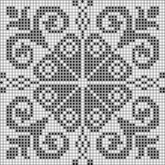 Tina's handicraft : 12 patterns for cross stitch embroidery Crochet Chart, Crochet Motif, Crochet Doilies, Crochet Stitches, Cross Stitching, Cross Stitch Embroidery, Embroidery Patterns, Cross Stitch Patterns, Knitting Charts