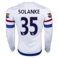 Chelsea FC 2015-16 Season SOLANKE #35 LS Away Soccer Jersey