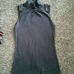 Express tank top Never worn or used studded Express tank. Has some jewels on the shoulders. Express Tops Tank Tops