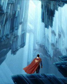 Superman: Fortress Of Solitude // painted artwork by Arte Do Superman, Mundo Superman, Superman Movies, Superman Family, Batman And Superman, Superman Stuff, Superman Room, Superman Birthday, Dc Heroes
