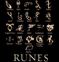 Shadow Hunter Runes ~ The Immortal Instruments