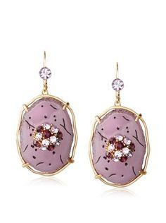 36% OFF T Tahari Oval Drop Earrings (Lilac)