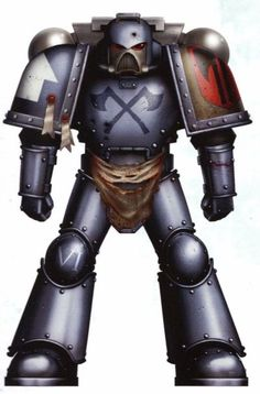 Executioners Axe Brother Castigar in reinforced Mark VII Aquila Power Armour. Warhammer Art, Warhammer Fantasy, Warhammer 40000, 40k Imperial Guard, Imperial Fist, Marine Colors, Fantasy Miniatures, Angel Of Death, Space Marine