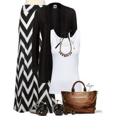 Fall Maxi, oh yeah I can do this outfit for fall! I already have a black cardigan :) but any color cardigan would look cute with this! Look Fashion, Autumn Fashion, Fashion Outfits, Womens Fashion, Fall Outfits, Casual Outfits, Cute Outfits, M Missoni, Mode Collage