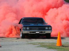 Awesome red burnout!
