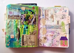 Get messy || art journal by Olya Schmidt.