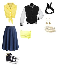 """""""Friend's (Sister) Design"""" by themortalinstrumentslover ❤ liked on Polyvore featuring Chicwish, Converse, See by Chloé, Boohoo and Forever 21"""