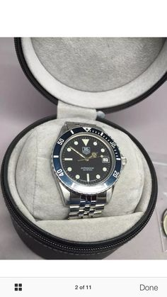 For sale: A+ Tag Heuer 1000 200m 980.013B Black Dial James Bond Submariner Dive Watch  For full details see http://pages.ebay.com/link/?nav=item.view&alt=web&id=331618932556&globalID=EBAY-US   You can contact me at jkbenn02@yahoo.com