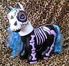 Halloween Shopaholic: Day of the Dead Custom OOAK Hello Kitty and My Little Pony