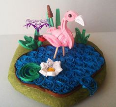 PaperMagic by Katty: Quilled Flamingo