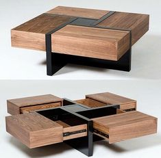 Lipscomb Makai Coffee Table by Brayden Studio! Modern Square Coffee Table, Cool Coffee Tables, Coffee Table With Storage, Tea Table Design, Coffee Design, Chair Design, Cool Furniture, Furniture Design, Table Furniture