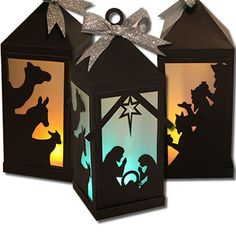 Nativity Scene Lantern (Flameless)-JMRush Lantern size: W 3 x D 3 x H This Flameless Nativity Scene Lantern features cut outs a. Christmas Activities, Christmas Crafts For Kids, Christmas Projects, Handmade Christmas, Holiday Crafts, Christmas Printables, Christian Christmas Crafts, Christmas Ideas, Easy Christmas Decorations