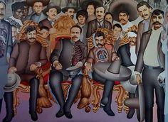 """""""La llegada de los Generales Zapata y Villa al Palacio Nacional el 6 de diciembre de 1914"""" by Arnold Belkin  Murality: Vancouver Arts Society   muralism and the revolution"""