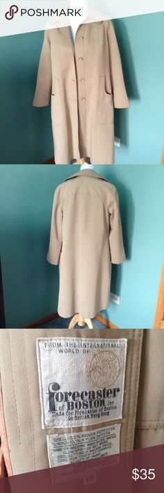 """Forecaster International Trench coat Keep warm this fall with this Trench coat. She'll- 100% woven polyester, lining 100% nylon taffeta. Zip out liner with wool/acrylic. Shoulder 16"""", length 40"""" sleeve 23"""". Very good condition Forecaster International Jackets & Coats Trench Coats"""