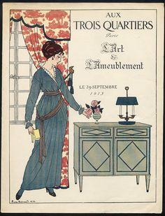 Aux Trois Quartiers (Department Store) 1913  Pierre Brissaud