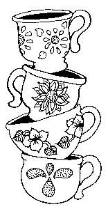Tea Cup Coloring Pages For Adults