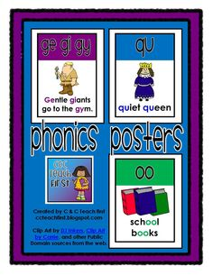 Phonics Posters FREEBIE for your Phonics Wall from C Teach First:  www.ccteachfirst.blogspot.com