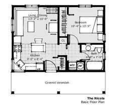 560 ft - 20 x 28 house plan