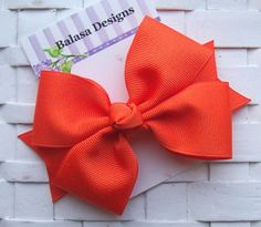 Hey, I found this really awesome Etsy listing at https://www.etsy.com/listing/164795622/boutique-orange-hair-bow