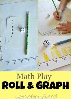 Creative Family Fun: Math Play: Roll & Graph