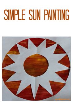 Simple sun painting to welcome summer!
