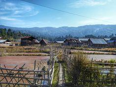 Hong Apatani village in Ziro Valley, Arunachal Pradesh, India