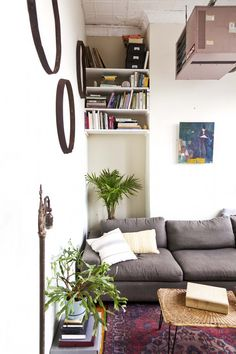 I love it when a space like this is lived-in and real but still uncluttered.