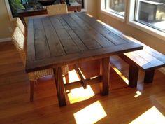 Charmant New Walnut Wood Dining Table U0026 Bench From Www.urbanminingcosf.com