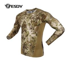 PYTHON TEXTURE CAMOUFLAGE TACTICAL/HUNTING COMPRESSION SHIRT