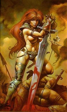 RED SONJA, winning battles with art of distraction...two big distractions!