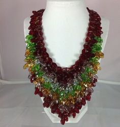 Miriam Haskell Breathtakingly Beautiful Vintage Glass Necklace Signed | eBay