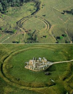 One of the ring ditches found in the Amazon and Stonehenge.