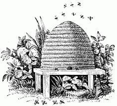 Vintage+Bee+Hive+Clip+Art+Vintage+Beehive+Clipart