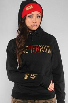 Oh my. Colin Kaepernick X Adapt :: Kae9ernick (Women's Black Hoody)