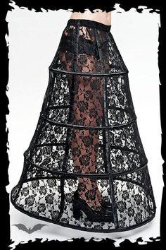 black lace hoop skirt